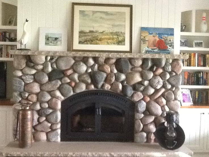 Fieldstone Fireplace Dream House Ideas Pinterest