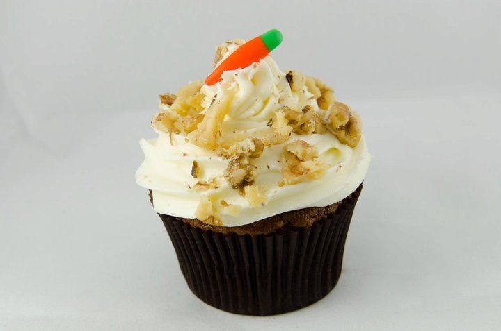 Cake-Classic carrot cupcake topped with vanilla cream cheese frosting ...
