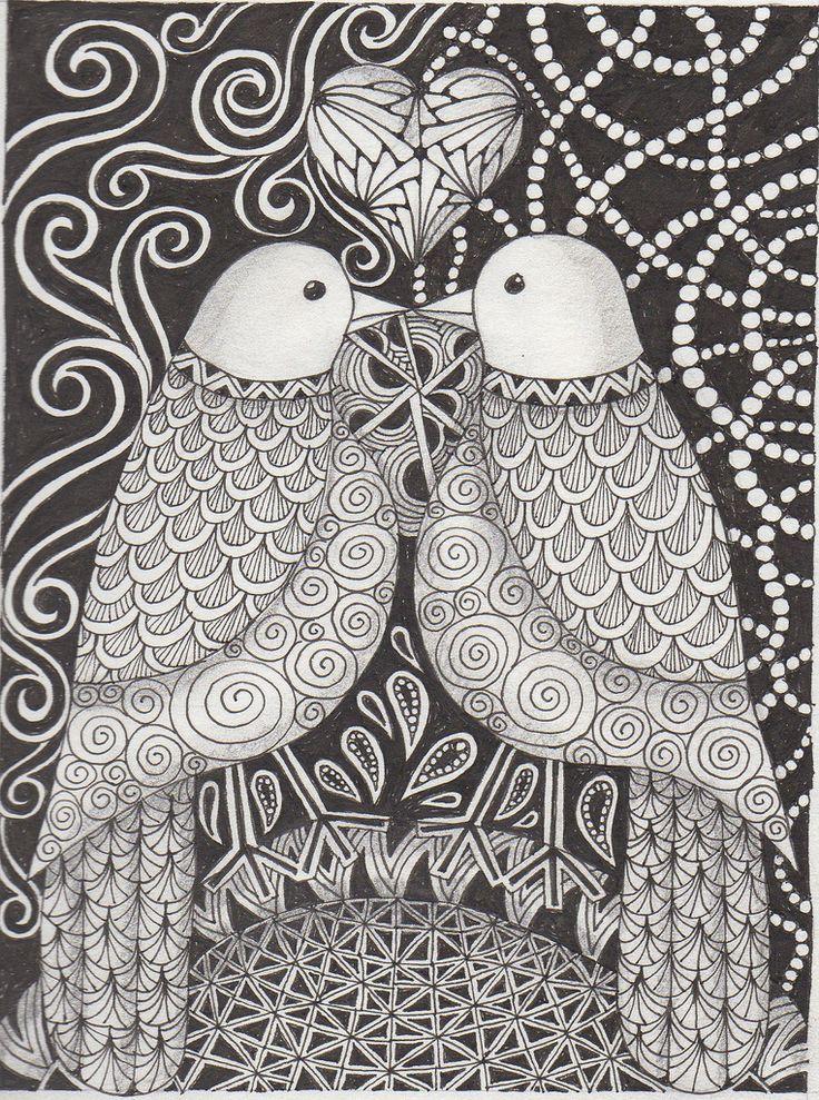 Doodles art doodles mandala and zentangles pinterest for Love doodles to draw