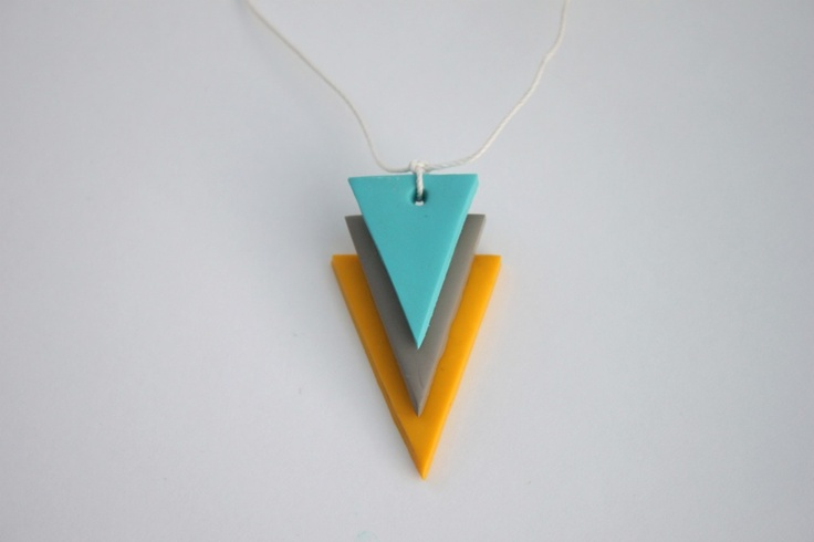 Love this necklace with polymer clay