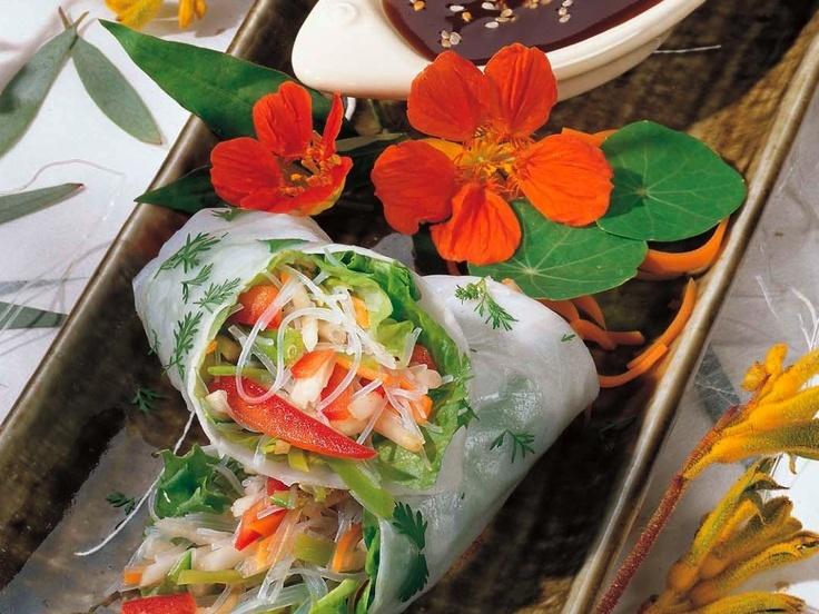 Fresh Vegetable Spring Rolls with Filipino Garlic Sauce | Recipe