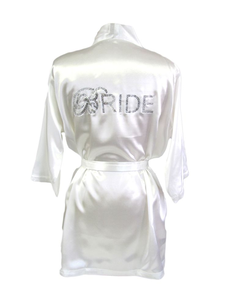 custom rhinestone bride robe things i love from work pinte