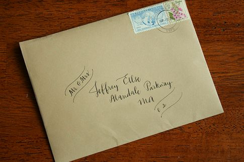 Kraft paper envelope with vintage stamps Dream Wedding Time!!! Pi ...