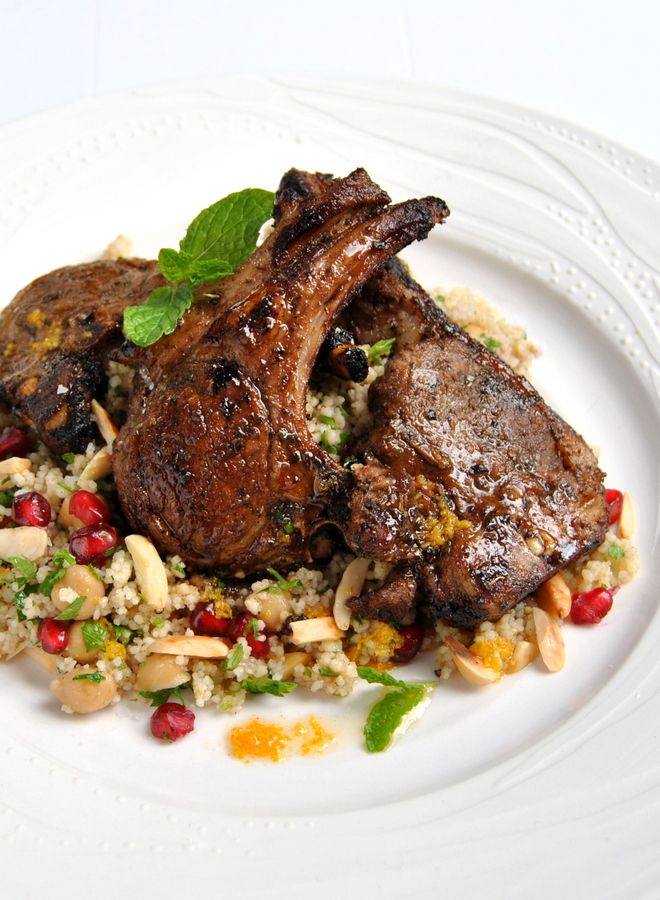 Moroccan-Spiced Lamb Chops with Citrus Couscous | #wwflavoursociety