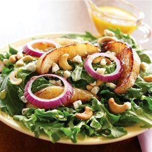 Roasted Pear Salad with Maple Vinaigrette | Recipe