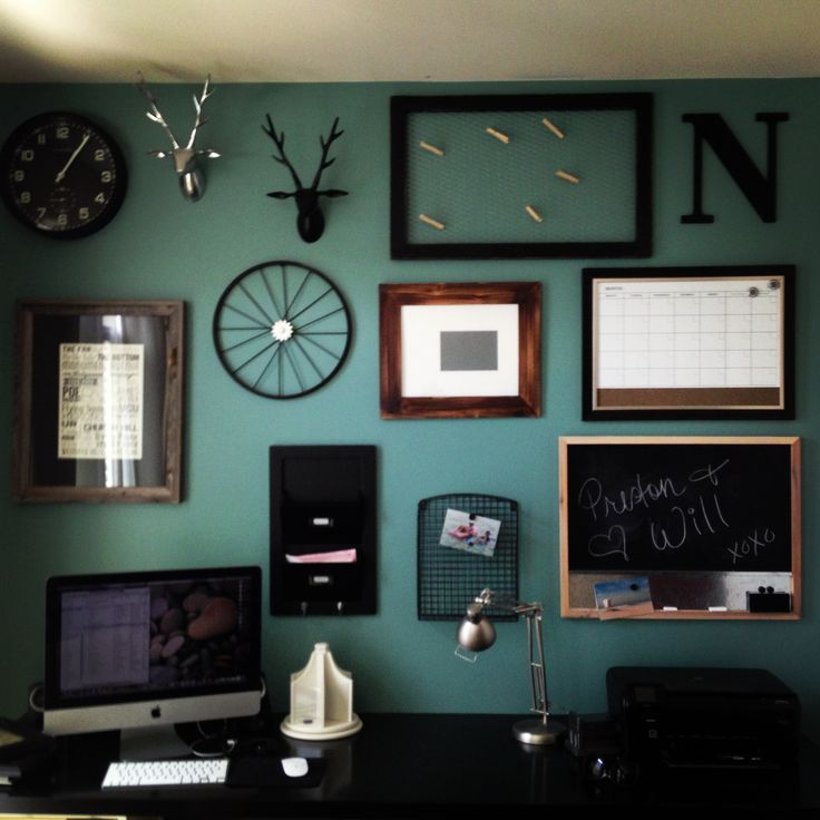 Home office accent wall for the home pinterest for Home office accent wall