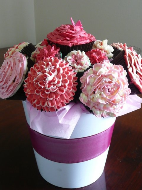 Cupcake flower in pot beautiful special occasions