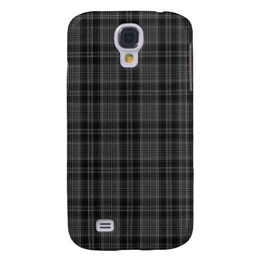 Drummond Grey Tartan Plaid Pattern Galaxy S4 Cases