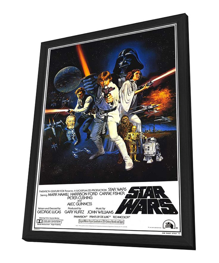 framed star wars movie poster star wars pinterest