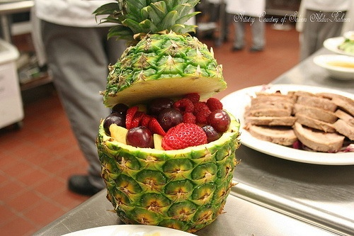 pineapple fruit bowl.... new take on the traditional watermelon