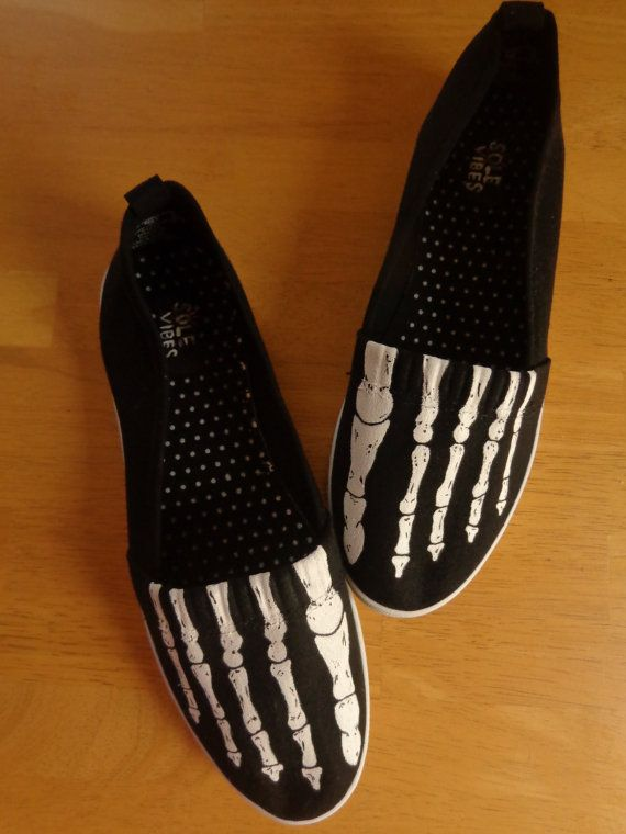 Skeleton Shoes women's size 9 by solevibes on Etsy