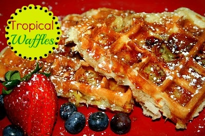 Tropical Waffles | Breakfast Recipes | Pinterest