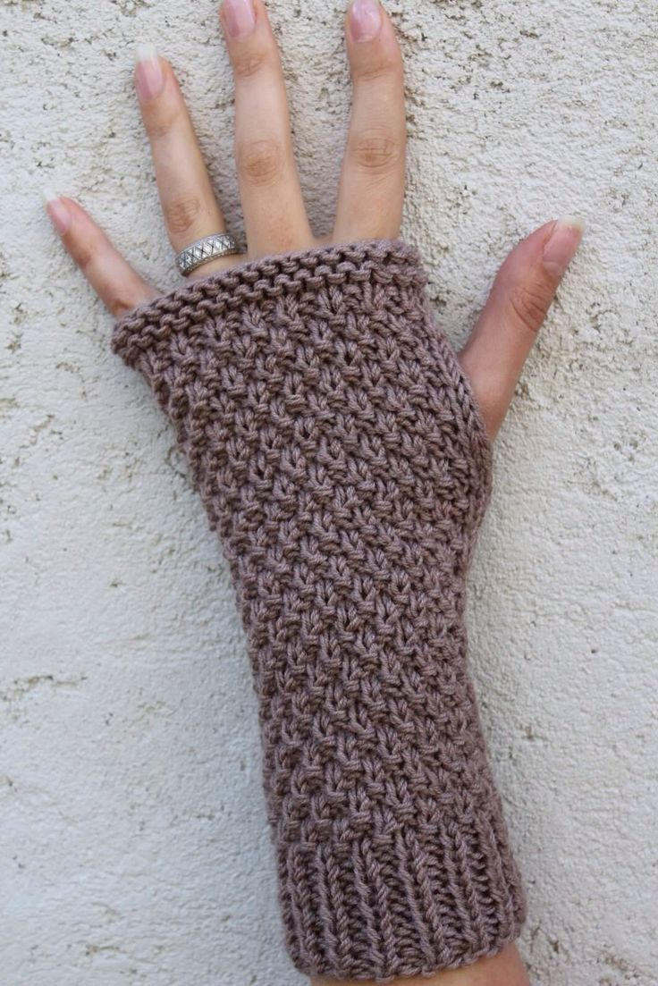 modèle tricot mitaine avec doigts