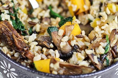 Brown & Wild Rice Dish with Butternut Squash, Spinach and Figs ...