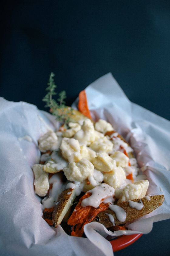 bake sweet potato poutine | food | Pinterest