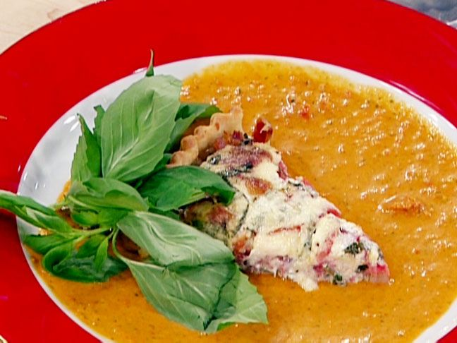 Roasted Garlic and Tomato Parmesan Tart Recipe : Emeril Lagasse : Food ...