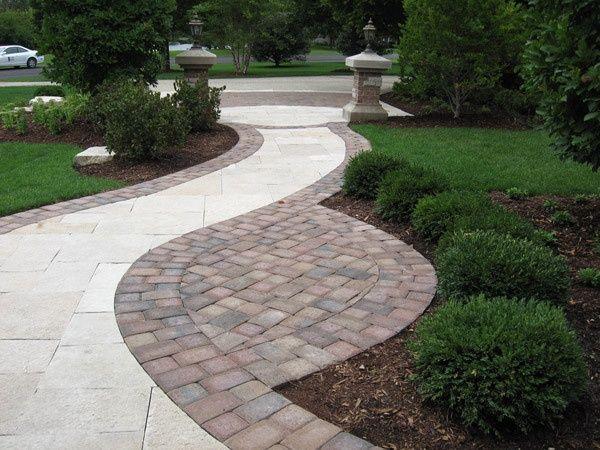 Landscape edging stones stone edging garden ideas for Garden edging stone designs