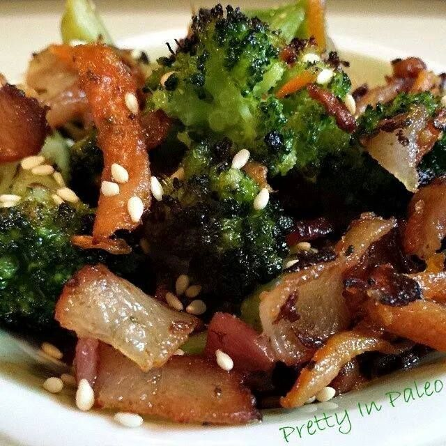 Roasted Broccoli Carrots and Bacon #diet #paleo #recipes paleoaholic ...