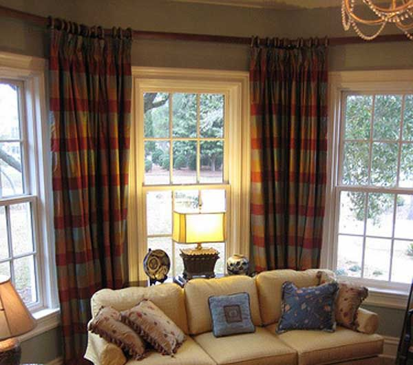 Living Room Bay Window Treatments Love