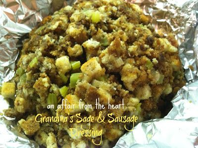 Grandma's Sausage & Sage Stuffing! | An Affair from the Heart