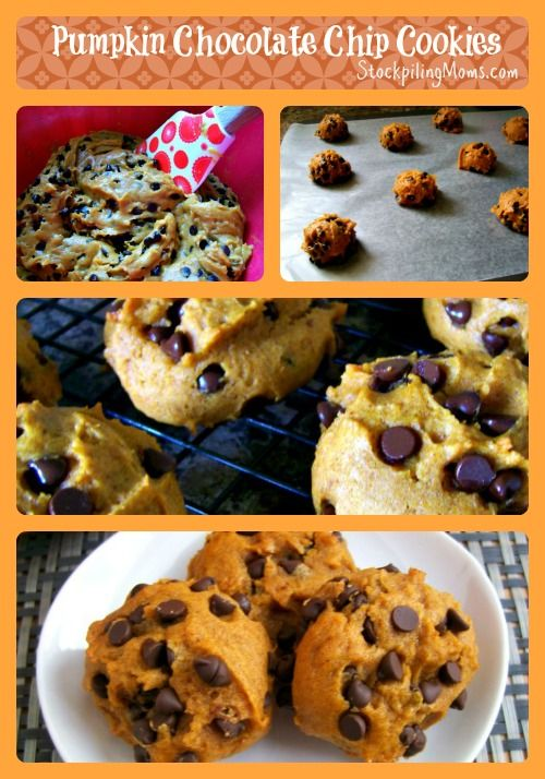 spin on chocolate chip cookies - Pumpkin Chocolate Chip Cookies ...