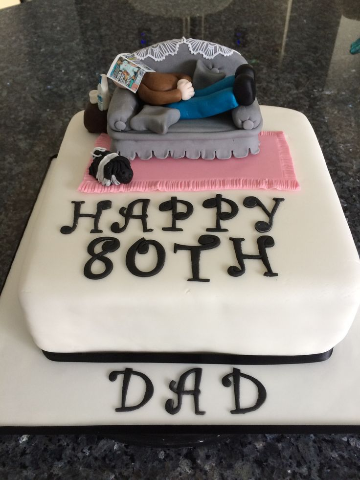 80th birthday cake Cake ideas Pinterest