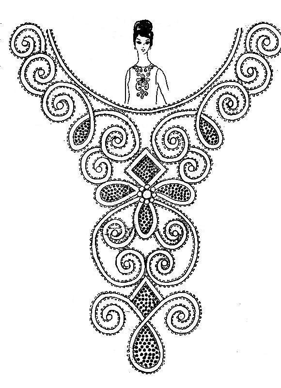 Вышивка бисером на платье своими руками схемы 55