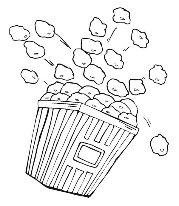coloring pages popcorn - photo#14