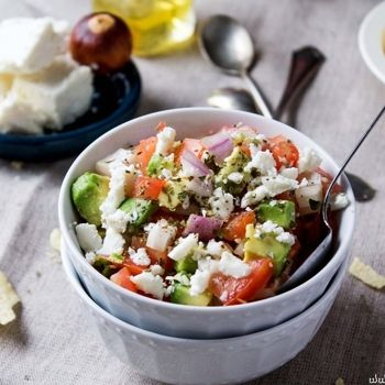 Avocado Feta Salsa - Avocados, tomatoes, and feta cheese combined to ...