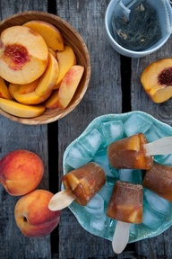Ginger Peach Iced Tea Popsicles 8 black tea bags (or 1 Mighty Leaf ...