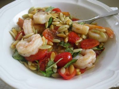 Skillet Shrimp and Orzo from Martha Stewart Everyday Food. I made this ...