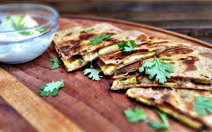 Cumin-lime zucchini quesadillas