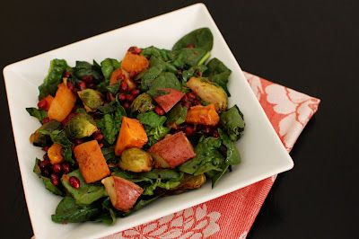 Roasted vegetable salad with pomegranate molasses dressing