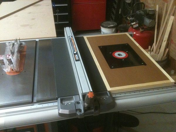 router table extension for ridgid table saw