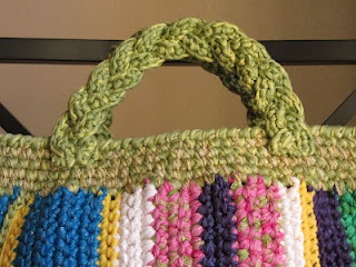 How to crochet braided handle