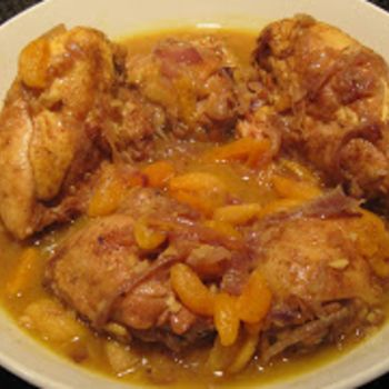 Chicken Tagine with Apricots and Almonds | Chicken & Game | Pinterest