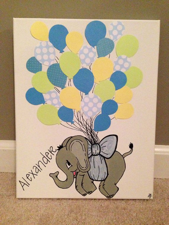 Baby Shower Guest Book Canvas ~ Baby shower guest book canvas by goodnessgraciouss on etsy