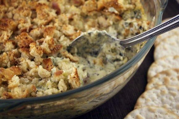 ... recipe for creamy baked artichoke dip #vegan #recipe #artichokedip