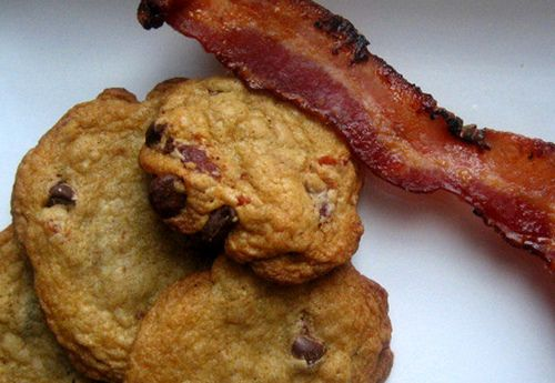 candied bacon chocolate chip cookies, Brandy - we are making these ...