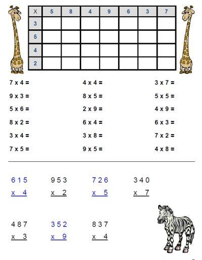 Math Worksheets » Math Worksheets For Grade 2 Multiplication And ...
