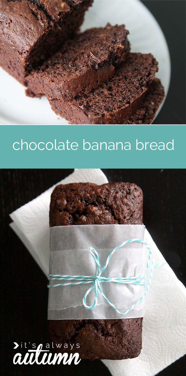 Decadent double chocolate banana bread recipe from It's Always Autumn ...