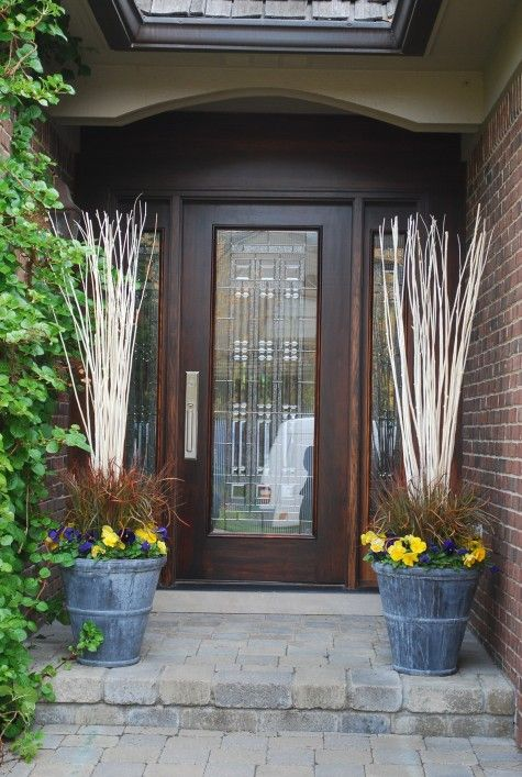 Spring entryway the yard pinterest for Outdoor entryway decorating ideas
