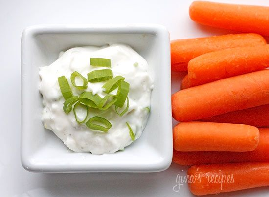 Skinny Ranch Dip - Serve with fresh veggies like carrots, celery, or ...