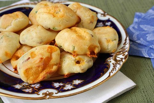 BACON, Cheddar Cheese, and Scallion Gougeres (Cheese Puffs) from ...