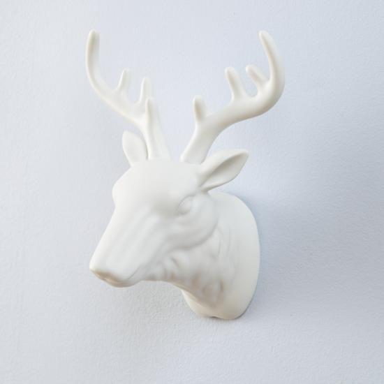 the land of nod kid room d cor ceramic deer head antler wall hook