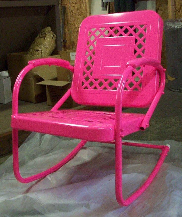 Retro metal chair.