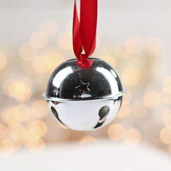 Silver sleigh bell g pixels christmas