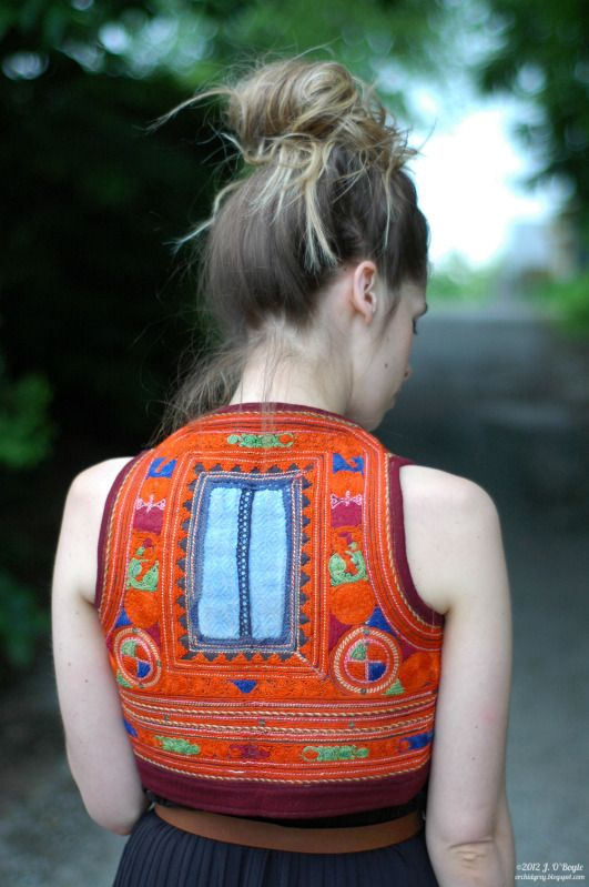 Gorgeous embroidered vest - love the cropped length. Perfect for wearing over dresses