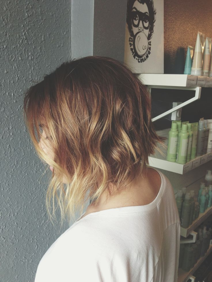 Short angled bob with ombre. Aveda color | HAIR | Pinterest