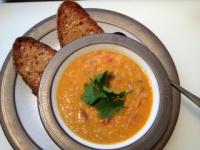 Spiced Coconut Lentil Soup | food | Pinterest